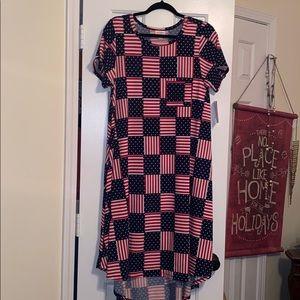 Brand new American flag midi dress!